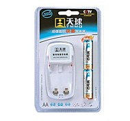 TMMQ 101 TMMQ 101 Charger for 2pcs AA / AAA Ni-MH / Ni-Cd Rechargeable Batteries (Included 2xAA)