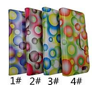 O Padrão PU Leather Case Full Body pontos coloridos com suporte para iPhone 5 (cores sortidas)