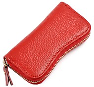 Fashion Genuine Leather Wallet Key Purses Key Cases with 6 Key Chains