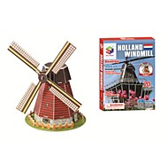 Educational Toys Magic Puzzle Holland Pinwheel Model 3D Puzzle for Children and Adult Jigsaw Puzzle(20PCS, B668-4)