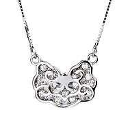 Women's Fashion Butterfly S925 Silver Pendant Necklace