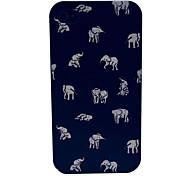 Indischer Elefant Cartoon-Muster PC Hard Case für iPhone 4/4S