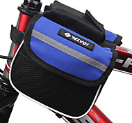 YELVQI Mash Cloth Black and Blue Waterproof Double Side Cycling Frame Bag