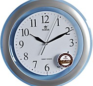 "POWER™ 11.8""H Brief Style Circle Shape Transparent Border Deep Sea-blue Super Mute Wall Clock"