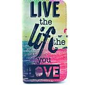 live life Meer Design PU-Leder Ganzkörper-Fall mit Ständer für Samsung Galaxy i9500 s4