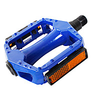 YELVQI Aluminum Alloy Blue Bike Pedals with Reflectors