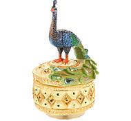 elegante Pfauenmuster Spieluhr Spielzeug