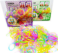Z&X®  Loom Bands Blink(Rubber Band 300PCS、Recycle Crochet Hook、Recycle S Hook、Instructions)