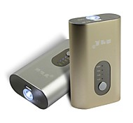 SWX 5200mAh Power Bank External Battery with LED Flashlight Universal USB Rechargeable Mobile Phone Chargers