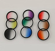 52MM Graduated Color Filter Kit(9 color)  + Cleaning Cloth+Lens cap+ Lens Cap Keeper Holder
