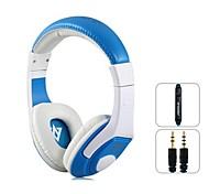 VYKON MQ44 Superb 3.5 mm On-ear Headphones with Microphone & 1.2 m Cable (White & Blue)