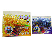 Z&X®  Loom Bands Gold(Rubber Band 300PCS、A Bag Of S Hook、A Rainbow Knitter)