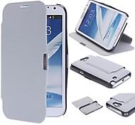 Sólido Cuero Color caja de la PU de cuerpo completo con soporte para Samsung Galaxy Note N7100 2 (colores surtidos)