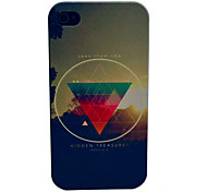 Sunrise Triangle View Pattern PC Hard Case for iPhone 4/4S