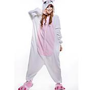 New Cosplay White cat Panda  Polar Fleece Adult Kigurumi Pajama