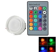 Round Shaped  RGB Ceiling LED Spot Light with Remote Controller (AC85~265V) 220lm 3W