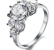Ms Fashion Exquisite Luxury Creative Flower Shape Big Diamond Ring