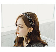 Sweet Leather Alloy Star shape Headbands