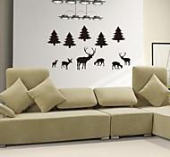 jiubai ™ decorazione cervo decalcomania della parete dell'autoadesivo della parete di arte