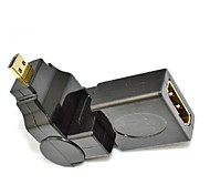 360 Degree Rotating 90 Angle Micro D HDMI Male to HDMI Female Adapter Convertor