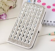 Fully Jewelled Gem Leather Full Body Case with Card Slot for iPhone 4/4S