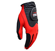 PGM Men's Left Hand Synthetic Leather+Lycra Red Breathable Magic Golf Gloves-1 Piece
