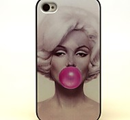 Greatly Bubble Gum Pattern Hard Case for iPhone 4/4s