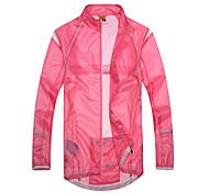 SANTIC Women's Cycling Rain Jacket/Waterproof jacket/Raincoat (Pink) Outdoor Anti UV Ultralight Breathable