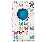 farfalle colorato stile portafoglio supporto capovolgere magnetico TPU e la cassa di cuoio dell'unità di elaborazione per Nokia Lumia 1020