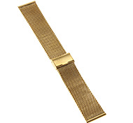 24mm High Quality Elegant Black/Gold Stainless Steel Watchband
