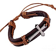 European Style Fashion  Scripture Crossleather Bracelet