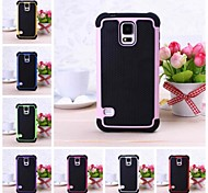 Ball Grain Tough Armor Hit Color Hard and Soft Combination Case for Samsung Galaxy S5 i9600(Assorted Colors)