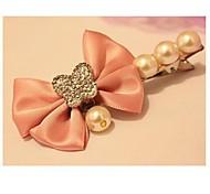 moda súper perla flash con bowknot barrettes color al azar