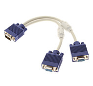 VGA Male to 2 Port VGA Female Cable 0.25M 0.82FT