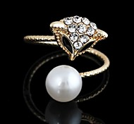 Women's Pearl/Alloy Ring Rhinestone Pearl/Alloy