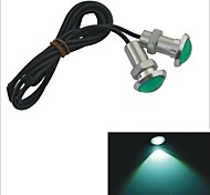 Carking™ 12V 1.5W 23MM Slim Auto Car LED Eagle Eye DayTime Running Light Reverse Lamp Bulb-Green Light