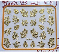 Quality 3D Flower and Left Pattern Nails Art Stickers For Nail Salon Professional