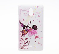Kinston Butterfly Girl Pattern Plastic Hard Case for Nokia Lumia 1320