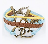 European Style Fashion Personality LOVE Heart to Heart Bracelet
