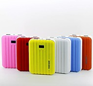 12000mAh Traveling Case Shape LCD Display Power Bank (5V 1A and 5V 2A Double Outputs, Optional Colors)