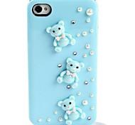 wangsheng® Strass Hard Case für iPhone 4 / 4s tragen