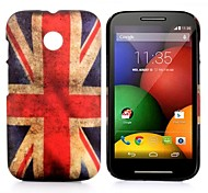 Vintage Union Jack Flag Pattern Oil Coated PC Hard Back Cover Case for Moto E XT1021