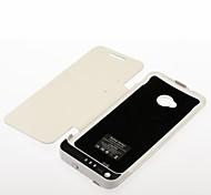 wiederaufladbare Backup-Batterie Tasche für HTC One / M7 (3800mAh, wihte)