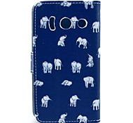 Indian Elephant Cartoon Pattern Full Body Case with Card Slot for HuaWei Y300