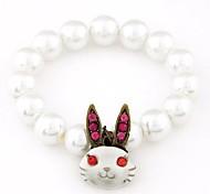 Fashion Auspicious Rabbit Pearl Bracelet