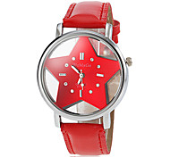 Women's Hollow Star Dial PU Band Quartz Wrist Watch (Assorted Colors) Cool Watches Unique Watches