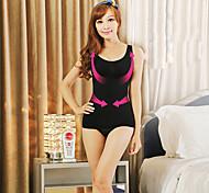 mujeres flexiones del cuerpo de mama chaleco shaper sexo v-cuello del chaleco de la ropa interior que adelgaza la cintura ny068 negro