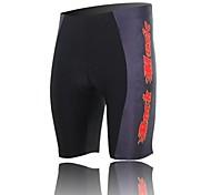 xintown Unisexe les tergal coussin cyclistes de haute qualité short noir + rouge