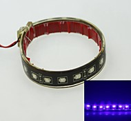 5730SMD 18 LED Strobe + dual-mode lit blue 4W 450-490nm 12V IP68 waterproof casing patch lights