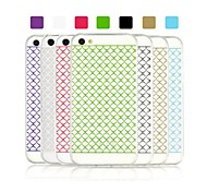 Angibabe Small Check Plaid Pattern Jelly Gel TPU Soft Clear Transparent Case for iPhone 4/4S